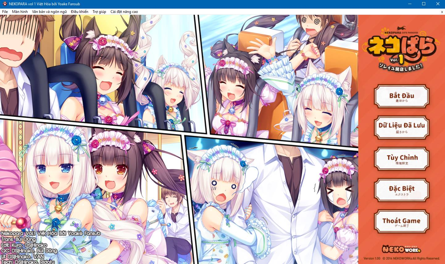 Visual Novel Nekopara vol.1 Việt Hoá (18+)